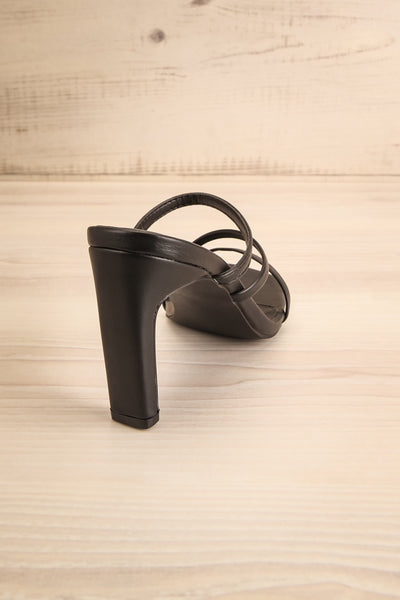 Baudoyer Black Heeled Sandals | La petite garçonne back view