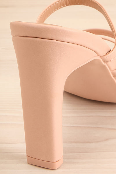 Baudoyer Pink Heeled Sandals | La petite garçonne back close-up
