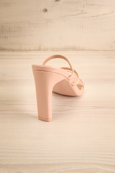 Baudoyer Pink Heeled Sandals | La petite garçonne back view