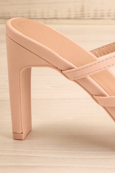 Baudoyer Pink Heeled Sandals | La petite garçonne side back close-up
