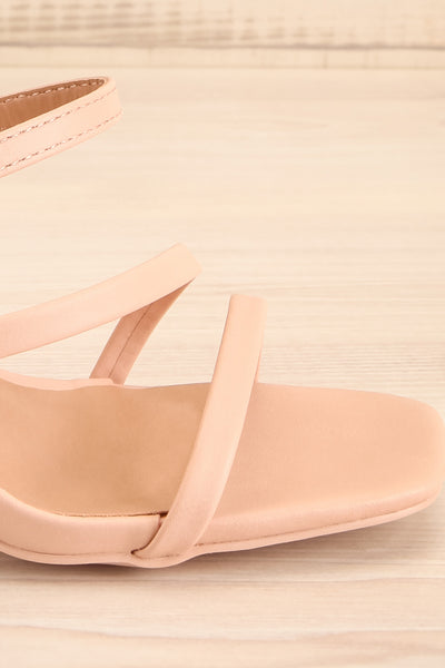 Baudoyer Pink Heeled Sandals | La petite garçonne side close-up