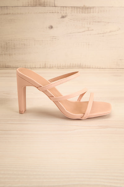Baudoyer Pink Heeled Sandals | La petite garçonne side view
