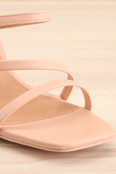 Baudoyer Pink Heeled Sandals | La petite garçonne front close-up