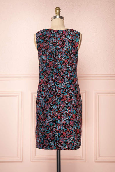 Baylor Black Floral Dress | Robe Fleurie back view | Boutique 1861
