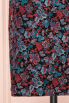 Baylor Black Floral Dress | Robe Fleurie skirt close up | Boutique 1861