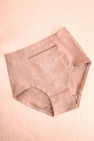 Bazyli Sand Beige High-Waist Brief with Pocket | Boutique 1861