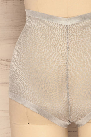 Becca Silver Blue Mesh Panty | La Petite Garçonne Chpt. 2 back close-up
