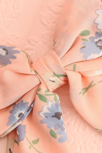 Belladone Aube Light Pink Floral Bow Hair Clip | Boutique 1861 3