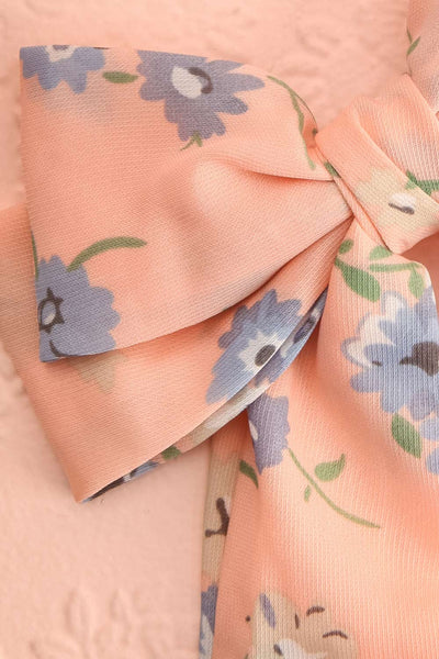Belladone Aube Light Pink Floral Bow Hair Clip | Boutique 1861 4