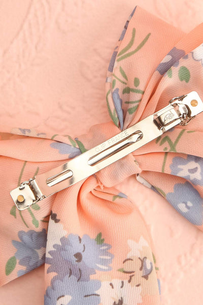 Belladone Aube Light Pink Floral Bow Hair Clip | Boutique 1861 6