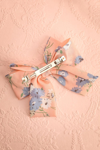 Belladone Aube Light Pink Floral Bow Hair Clip | Boutique 1861 5