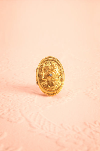 Bélombra Antique Gold Locket Ring | Boudoir 1861 6