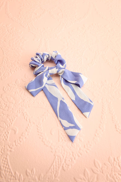 Benis Blue Hair Scrunchie w/ Bow | Boutique 1861 view