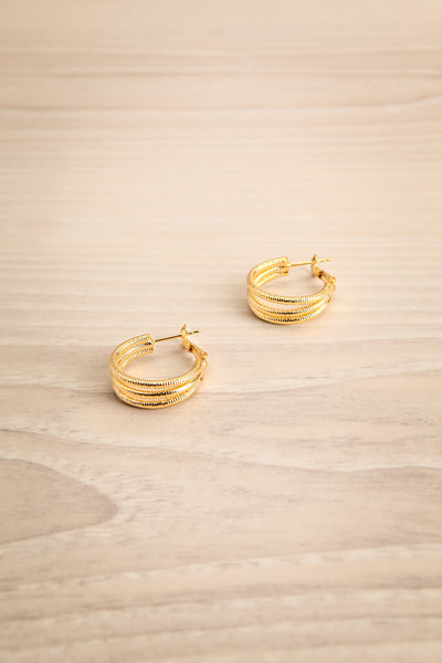 Berat Or Golden Loop Pendants Earrings | La Petite Garçonne