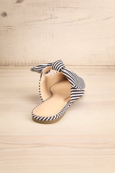 Berzélius Black & White Striped Pointed Toe Mules | La Petite Garçonne 8
