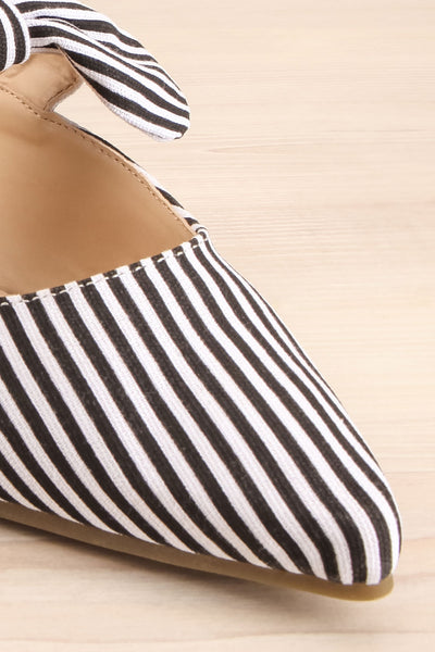 Berzélius Black & White Striped Pointed Toe Mules | La Petite Garçonne 4