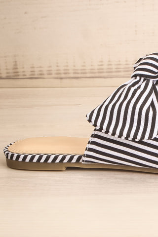 Berzélius Black & White Striped Pointed Toe Mules | La Petite Garçonne 6