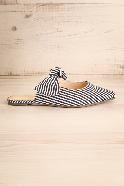 Berzélius Black & White Striped Pointed Toe Mules | La Petite Garçonne 5
