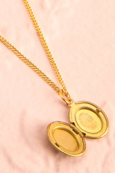 Betty Grable Blanc White & Golden Floral Locket | Boutique 1861 3