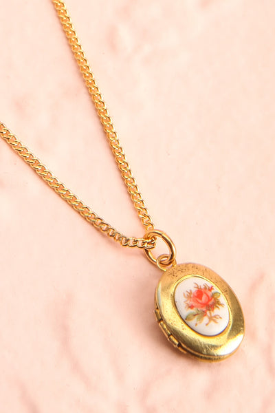 Betty Grable Blanc White & Golden Floral Locket | Boutique 1861 7