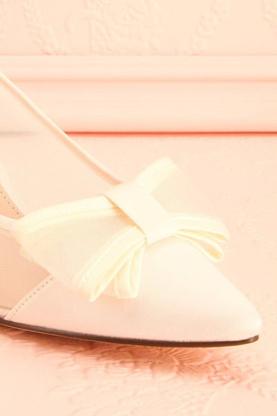 Biancara Ivoire Ivory Pointy-toe Kitten Heeled Shoes | Boudoir 1861