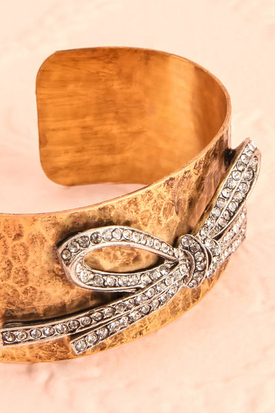 Bibacier Antique Gold Bangle Bracelet with Crystals | Boudoir 1861 4
