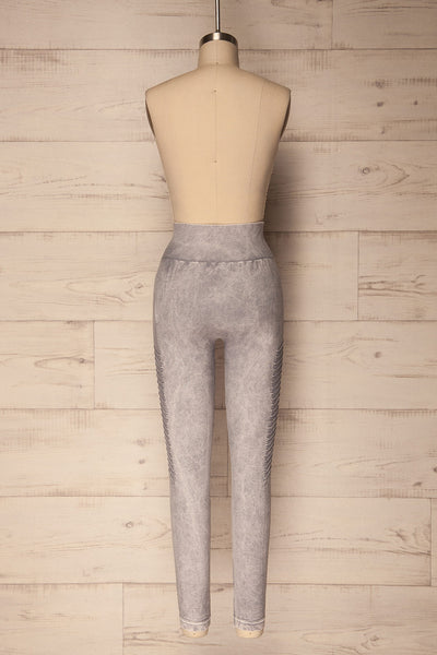 Biezun Light Grey Ribbed Leggings | La Petite Garçonne