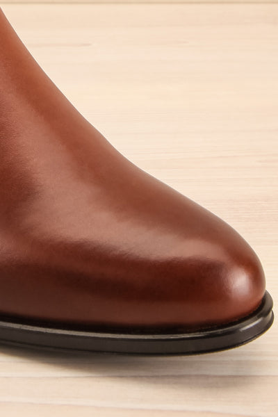 Bobby Brown Leather Heeled Ankle Boots | La Petite Garçonne front close-up