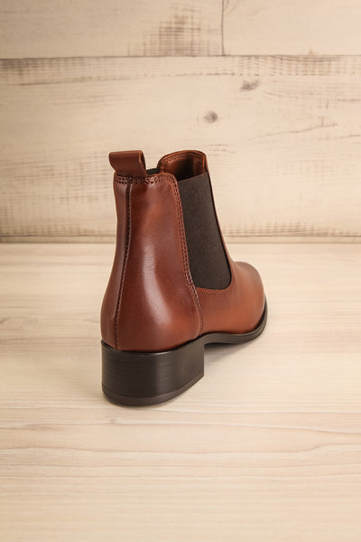 Bobby Brown Leather Heeled Ankle Boots | La Petite Garçonne back view