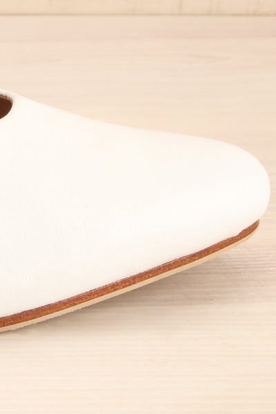 Boicas Chalk White Block Heel Mules side front close-up | La Petite Garçonne Chpt. 2 8