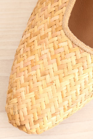 Boicas Straw Beige Block Heel Mules flat close-up | La Petite Garçonne Chpt. 2 3