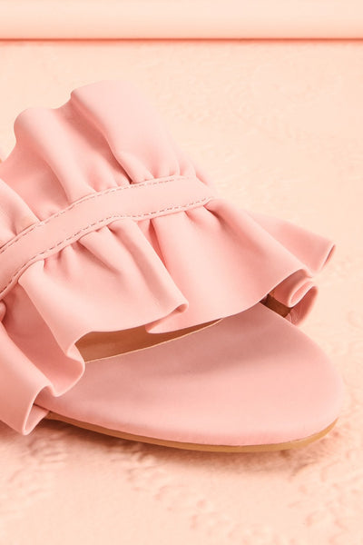 Borda Pétale Pink High Heel Slip-on Sandals | Boutique 1861 5