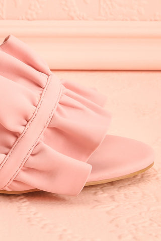Borda Pétale Pink High Heel Slip-on Sandals | Boutique 1861 8