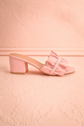 Borda Pétale Pink High Heel Slip-on Sandals | Boutique 1861 6