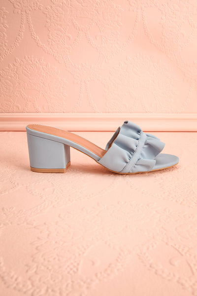 Borda Pluie Blue High Heel Slip-on Sandals | Boutique 1861 6