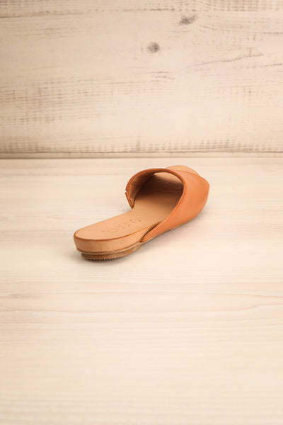 Botha Coffee Tan Slip-On Sandals | La petite garçonne back view