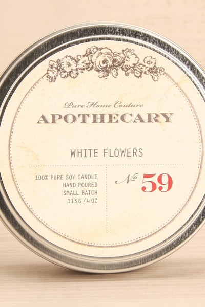 Bougie White Flowers - Perfumed candle in a tin box 2