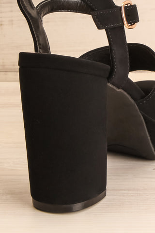 Braque Black Platform Sandals | Talons | La Petite Garçonne back close-up