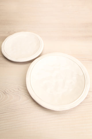 Bremen Rustic & Textured White Plate different sizes | La Petite Garçonne Chpt. 2