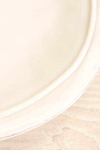 Bremen Rustic & Textured White Plate close-up | La Petite Garçonne Chpt. 2
