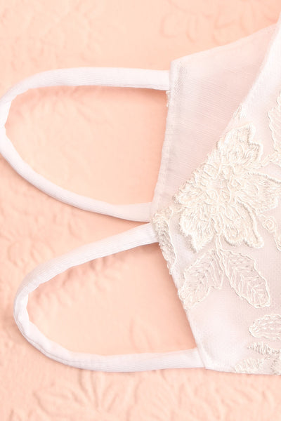 Bridal Face Mask White Lace | Boudoir 1861 inside close-up