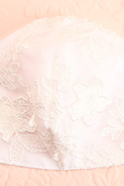 Bridal Face Mask White Lace | Boudoir 1861 close-up