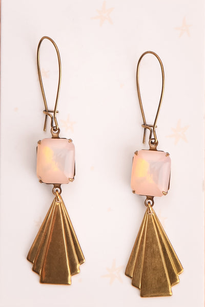 Bridie Quilty Golden Art Deco Pendant Earrings | Boutique 1861