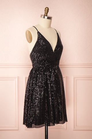 Brigitte Black Plus Size Party Dress | Robe | Boutique 1861 side view
