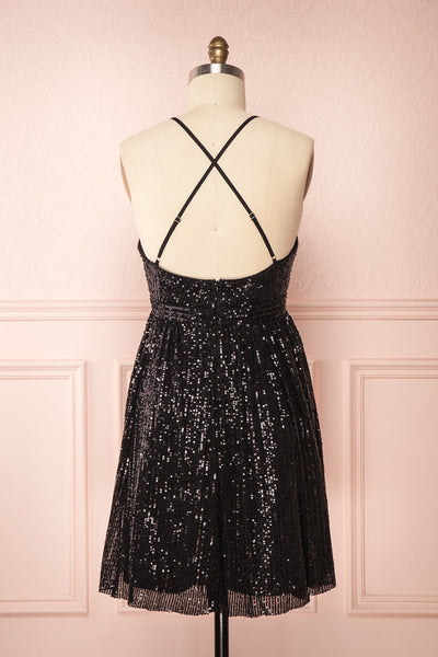 Brigitte Black Plus Size Party Dress | Robe | Boutique 1861 back view