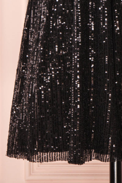 Brigitte Black Plus Size Party Dress | Robe | Boutique 1861 bottom close-up