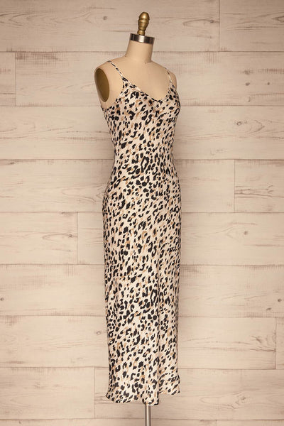 Brynja Leopard Print Slip Dress | Robe | La Petite Garçonne side view
