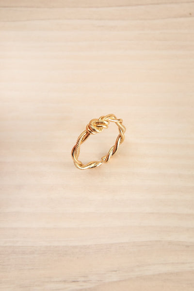 Byremo Double Band Golden Ring with Knot Detail | La Petite Garçonne 1