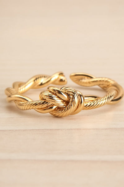 Byremo Double Band Golden Ring with Knot Detail | La Petite Garçonne 3