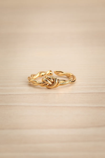 Byremo Double Band Golden Ring with Knot Detail | La Petite Garçonne 4